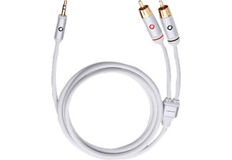 OEHLBACH 60001 I-Connect, Cinch-Klinke-Kabel, 1.5 m Kabellänge