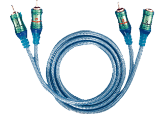 OEHLBACH 92023 NF Set Ice Blue 3m, Cinch-Kabel, 3000 mm, Transparent
