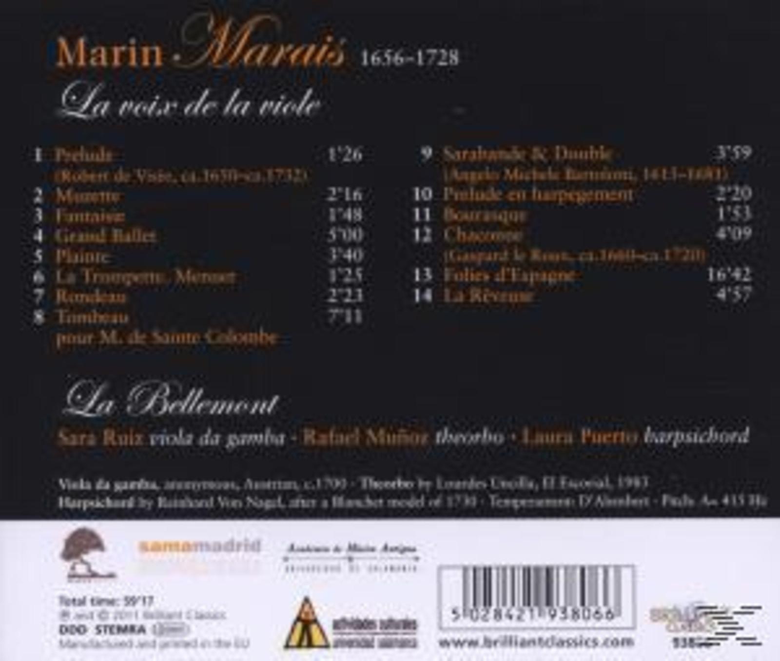 Ensemble La Bellemont - Marais: La Voix De La Viole - (CD)