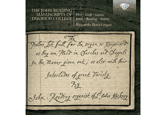 Riccardo Bonci - The John Reading Manuscripts Of Dulwich College - (CD)