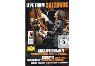Martha Argerich, Renaud Capucon, Gautier Capucon, Simón Bolivar Youth Orchestra Of Venezuela - LIVE FROM SALZBURG 2008 (MUSSORGSKY/BEETHOVEN) [DVD]