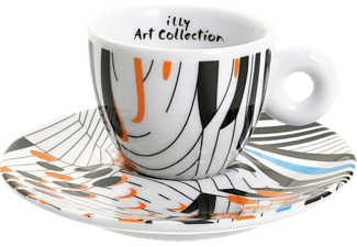 ILLY 4359 Art Collection Tobias Rehberger 4tlg. inkl. 250 g Dose Illy Espresso, Tassen
