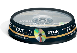 TDK DVD-R Double Layer 8x 10'lu Cake Box