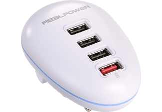 REALPOWER 4-Port, USB-Ladestation
