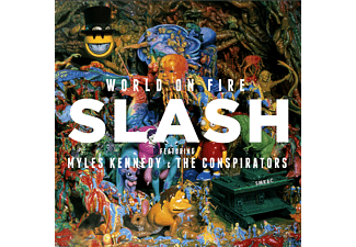 Slash;Myles Kennedy;The Conspirators - World On Fire (CD+T-Shirt L) [CD + T-Shirt]
