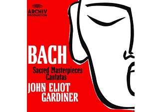 VARIOUS, Monteverdi Choir, The English Baroque Soloists - Bach: Sacred Masterpieces Cantatas [CD]