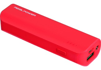 REALPOWER PB-2600 Powerbank 2600 mAh Rot