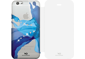 WHITE DIAMONDS Liquids, Apple, Bookcover, iPhone 6, iPhone 6s, Kunststoff/Material-Mix/Polyurethan (PU), Blau