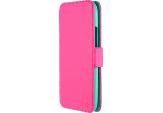 3325 Touch Case Bookcover HTC One M8 Polycarbonat/Polyurethan Neon Pink