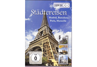 Städtereisen - Madrid, Barcelona, Paris, Marseille - (DVD)