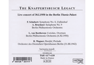 Bruckner Knappertsbusch Hansoeuvres De Beethoven, Hans & Berliner Philharmoniker Knappertsbusch - Knappertsbusch In Berlin Am 30.1.1950 [CD]