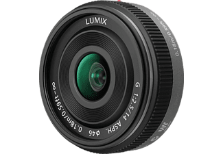 PANASONIC H-H014 14 mm-14 mm f/2.5, Pancake, System: Micro-Four-Thirds, Schwarz