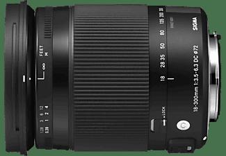 SIGMA 886961 18 mm-300 mm Objektiv f/3.5-6.3 DC, HSM, System: Pentax, Schwarz