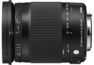 SIGMA 886962 18 mm-300 mm Objektiv f/3.5-6.3 DC, HSM, System: Sony, Schwarz