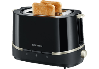 SEVERIN AT 2290 Toaster Schwarz/Titan/Metallic (800 Watt, Schlitze: 2)