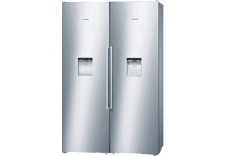 BOSCH KAD99PI25, Side-by-Side, A+, 391 kWh/Jahr, 1870 mm (Gefrierschrank), 1870 mm (Kühlschrank) hoch, Edelstahl