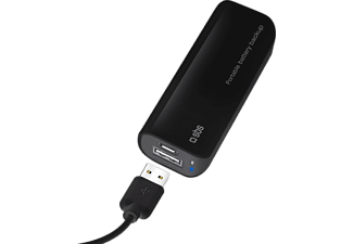 SBS MOBILE POWERBANK 2200 mAh - Svart