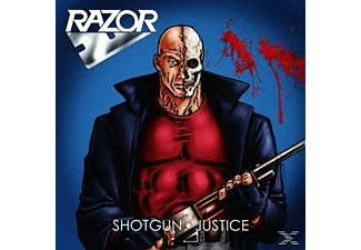 Razor - Shotgun Justice (Ltd. Blue / Red Splatter Vinyl) [Vinyl]