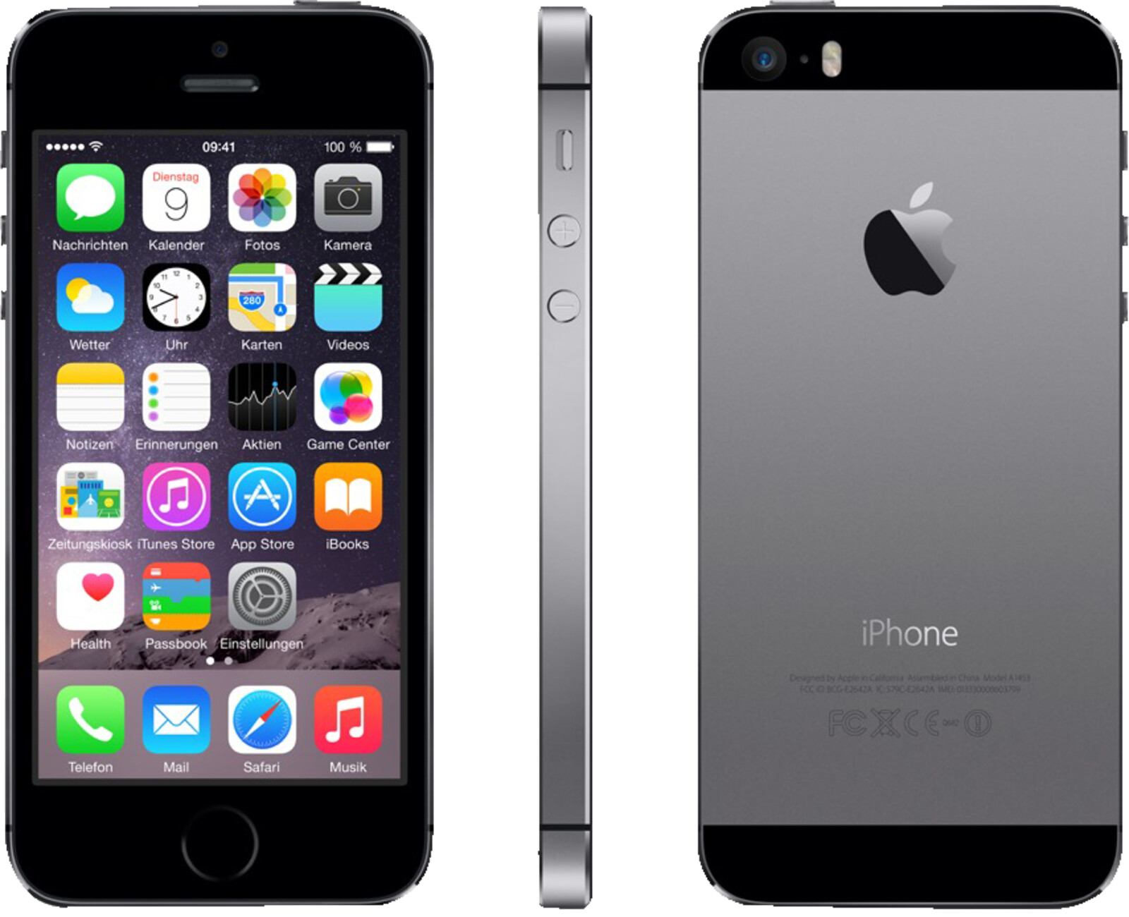 apple iphone 5s smartphone 16 gb 4 zoll grau lte. Black Bedroom Furniture Sets. Home Design Ideas