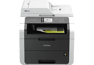 BROTHER MFC-9142CDN, 4-in-1 Laser-Multifunktionsdrucker (Farbe), Weißgrau