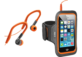 SBS MOBILE Sportkit, Hörlurar och Sportarmband Large - Orange