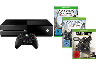 MICROSOFT Xbox One 500GB inkl. CoD: Advanced Warfare + AC: Unity + AC: Black Flag