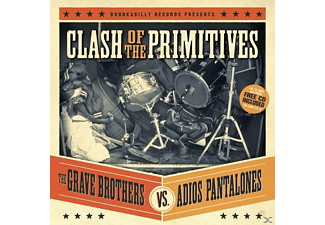 Grave Brothers, Grave Brother Vs. Adios Pantalones - Clash Of The Primitives (Split Albu - (LP + Bonus-CD)