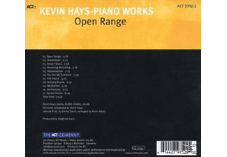 Kevin Hays - Open Range-Piano Works [CD]