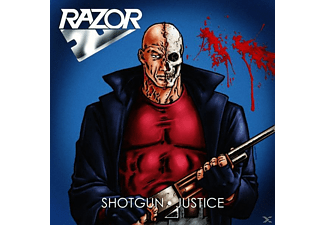 Razor - Shotgun Justice (Ltd. Blue / Red Splatter Vinyl) - (Vinyl)