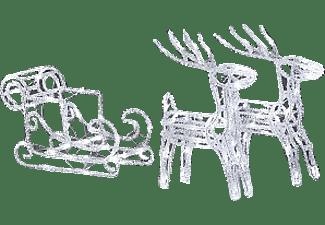 konstsmide 6192 203 2 rentiere mit schlitten weihnachtsbeleuchtung au en mediamarkt. Black Bedroom Furniture Sets. Home Design Ideas