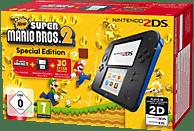 NINTENDO 2DS Schwarz/Blau + New Super Mario Bros. 2 (Special Edition)