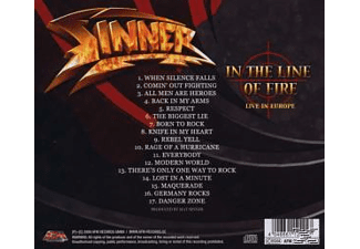Sinner - In The Line Of Fire [CD]