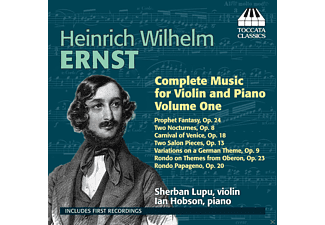 Sherban Lupu, Ian Hobson - Ernst Music For Violin + Piano Vol.1 - (CD)