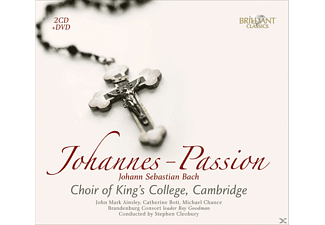 John Mark Ainsley, Catherine Bott, Michael Chance, Brandenburg Consort, The Choir Of King's College - Johannes-Passion - (CD + DVD Video)