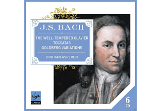 Bob Van Asperen - Bach Well-Tempered Clavier Goldberg Variations Toccatas [CD]