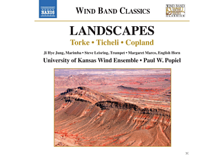 University Of Kansas Wind Ensemble, Paul W. Popiel - Landscapes - (CD)