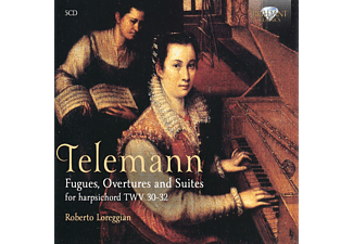 Roberto Loreggian - Fugues, Overtures, Preludes And Suites Twv 30-32 - (CD)