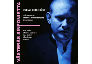 Mats Rondin, Johan Bridger, Per Johansson, Ian Peaston, The Swedish National Youth Orchestra, Västerås Sinfonietta Gustavsson - Broström: Konzerte - (CD)