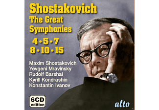 VARIOUS - Schostakowitsch: Die grossen Sinfonien-Nr.4,5,6,8,10,15/+ - (CD)
