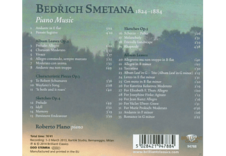 Roberto Plano - Smetana: Piano Music - Album Leaves And Sketches - (CD)