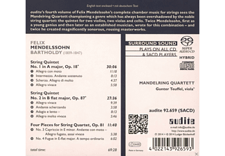 Gunter Teuffel & Mandelring Quartett - Bartholdy: Complete Chamber Music For Strings Vol. Iv - (SACD Hybrid)