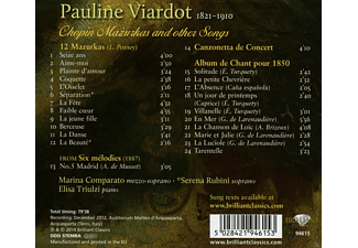 Marina Comparato, Elisa Triulzi - Melodies, Chopin Mazurkas And Other Songs - (CD)