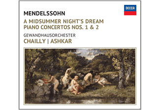 Saleem Ashkar, Gewandhausorchester Leipzig - A Midsummer Night's Dream / Piano Concertos Nos. 1 & 2 [CD]
