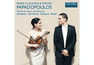 Marie-claudine Papadopoulos, Dimitri Papadopoulos - Works For Violin And Piano - (CD)