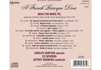 Carolyn Sampson;Jeffrey Skidmore;Ex Cathedra - A French Baroque Diva-Arias For Marie Fel [CD]