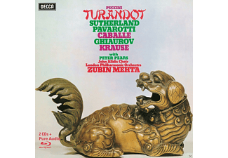 Joan Sutherland, Luciano Pavarotti, Nicolai Ghiaurov, Montserrat Caballé, Tom Krause, The London Philharmonic Orchestra, Pears Peter - Turandot (Ltd.Deluxe Edt.) - (CD + Blu-ray Audio)