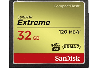 SANDISK Extreme Compact Flash Speicherkarte, 32 GB, 120 MB/s