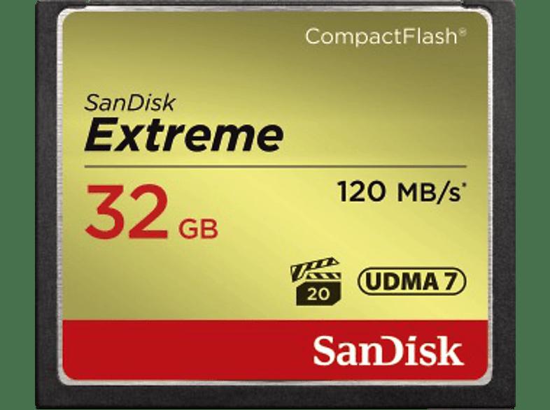 SAN DISK Compact CF Extreme 32 GB 120 MB/s hobby   φωτογραφία φωτογραφικές μηχανές κάρτες μνήμης