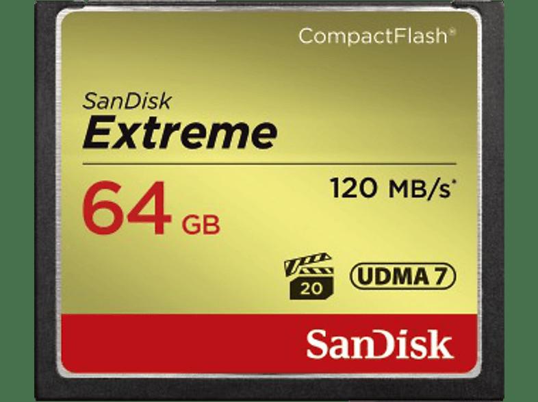 SAN DISK Compact CF Extreme 64 GB 120 MB/s hobby   φωτογραφία φωτογραφικές μηχανές κάρτες μνήμης