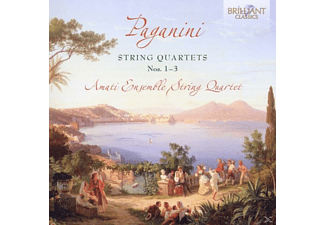 Amati Ensemble String Quartet - Paganini: Streichquartette 1-3 - (CD)